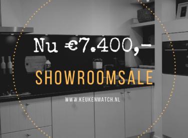 SHOWROOMKEUKEN Nobilia magnolia/mat van €14.800,- NU €7.400,-