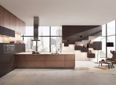 Bronskleurige keuken met een exclusief design