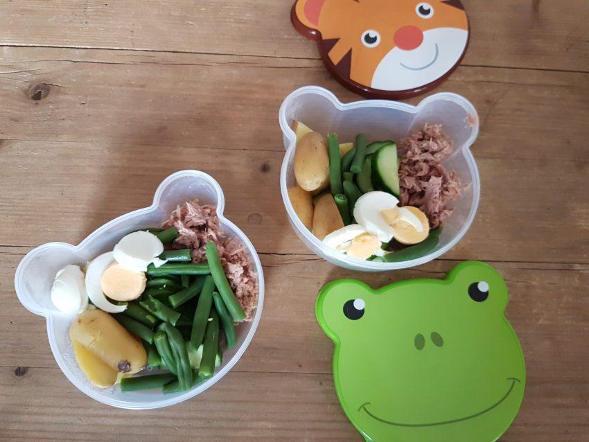 salade nicoise, kidsproof, allerhandebox, recept, gezond, healthy, fitmon