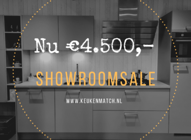 SHOWROOMKEUKEN Haecker Lasso Laser Soft parelgrijs van €7.999,- NU €4.500,-
