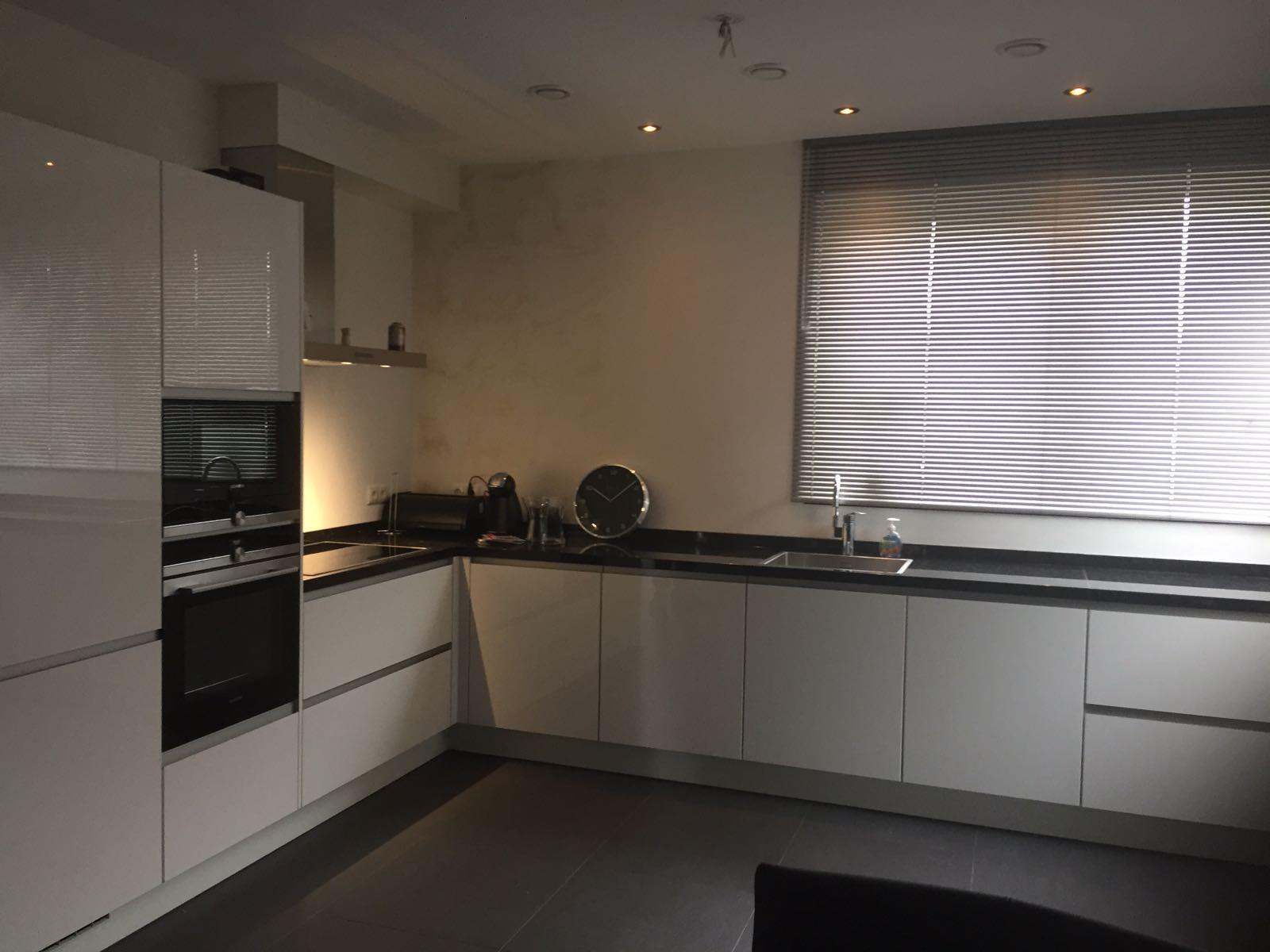 keuken wit hoogglans hoek
