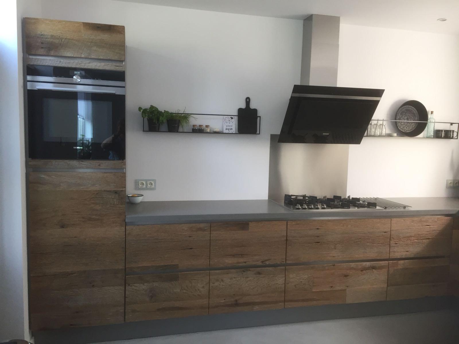 robuuste houten keuken barnwood i-kook