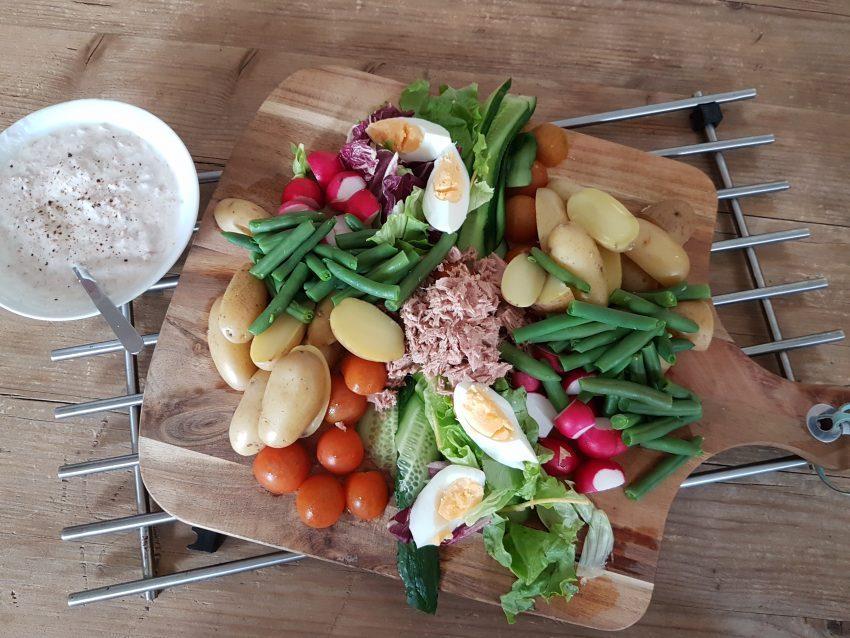 salade nicoise, allerhandebox, recept, gezond, healthy, fitmon